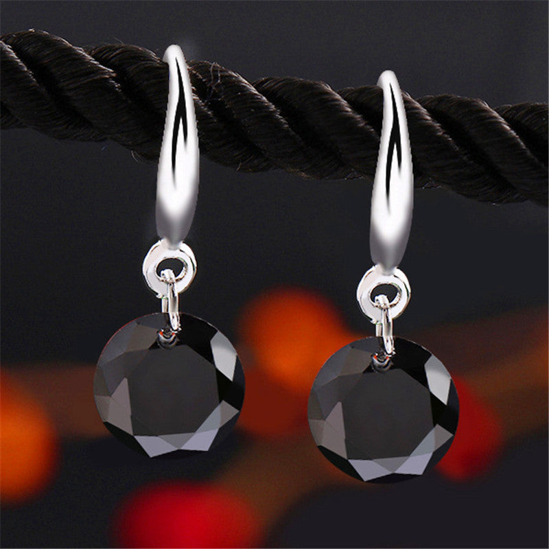 925 Sterling Silver Luxury CZ Diamond Crystal Earrings