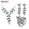 Pure 925 Sterling Silver Jewellery Sets With Pendants/Earrings /Rings