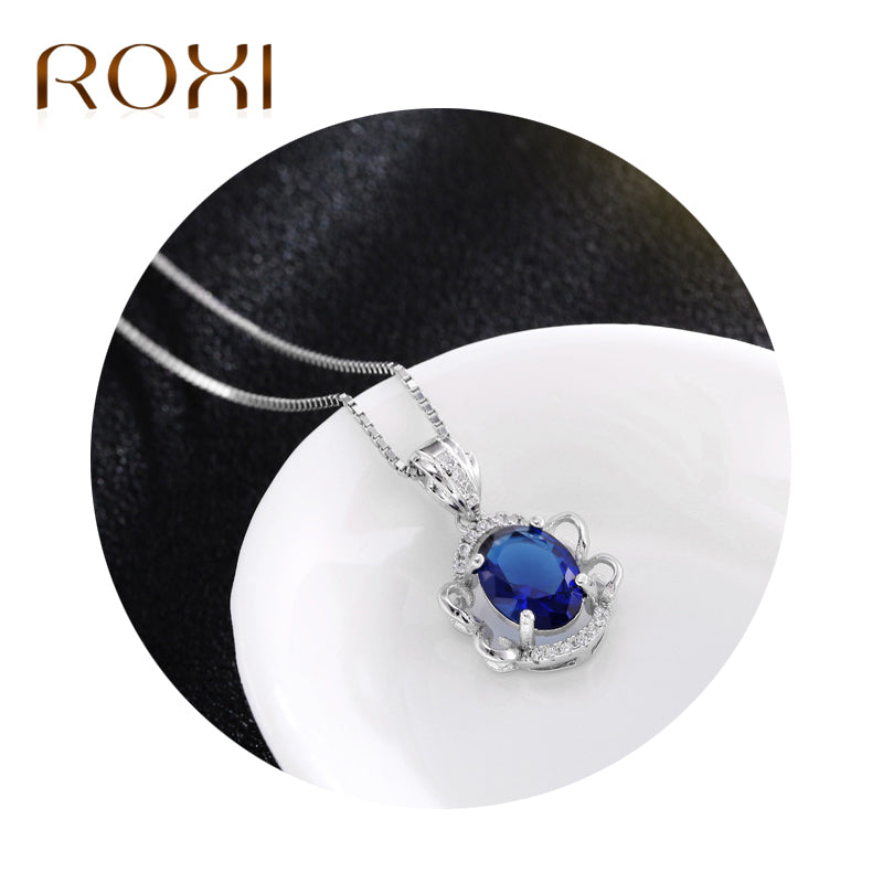 Blue Pendant In Pure 925 Sterling Silver Jewellery