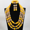 Silver 14MM African Beaded Party Jewellery Set