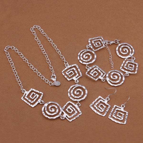 Plated 925 Sterling Silver Jewellery Set