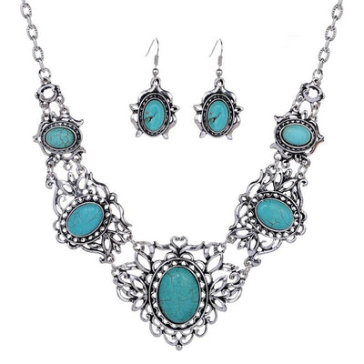 Antique Tibetan Silver  Necklace Set