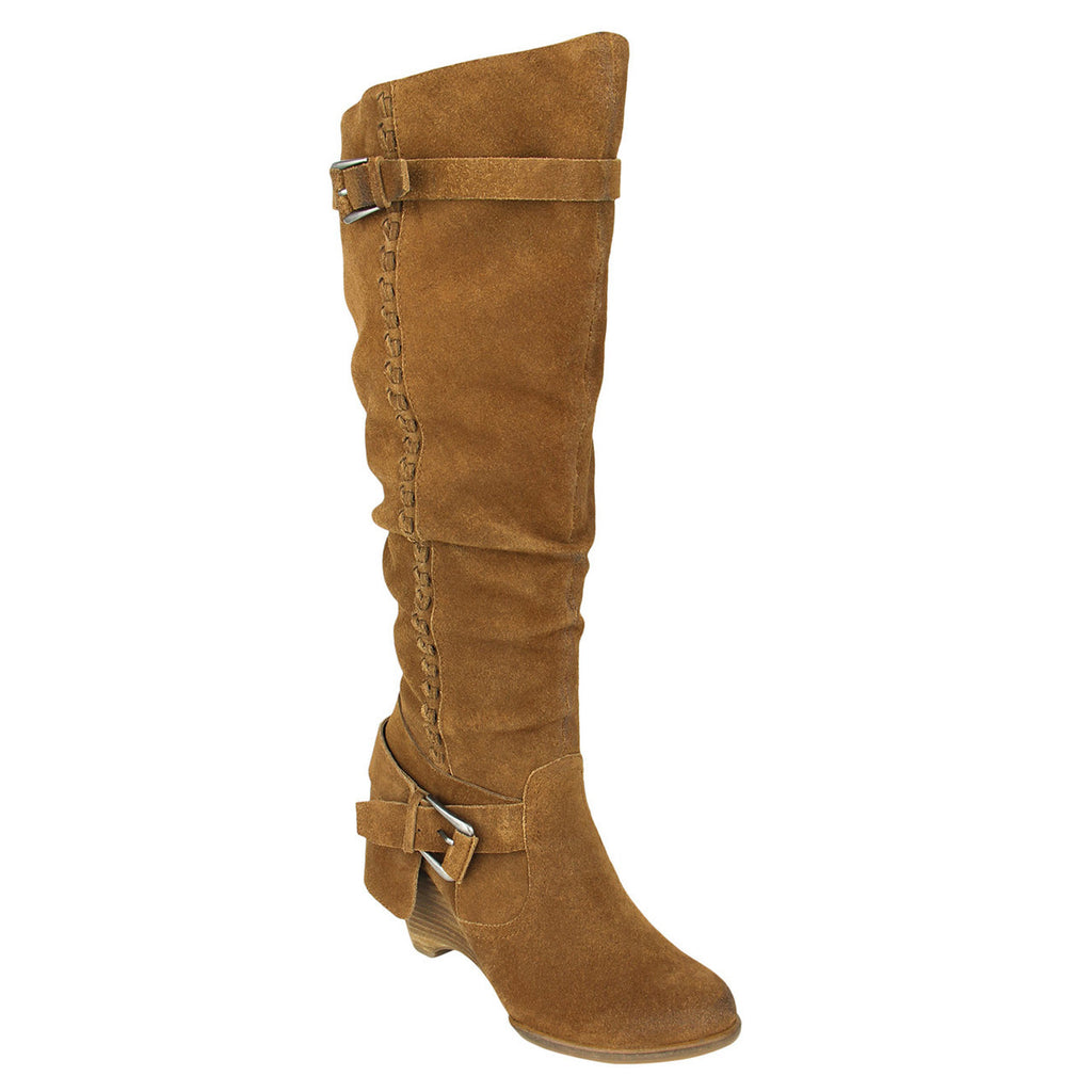 naughty_monkey-tall_boot_women_suede-Double Up- Tan