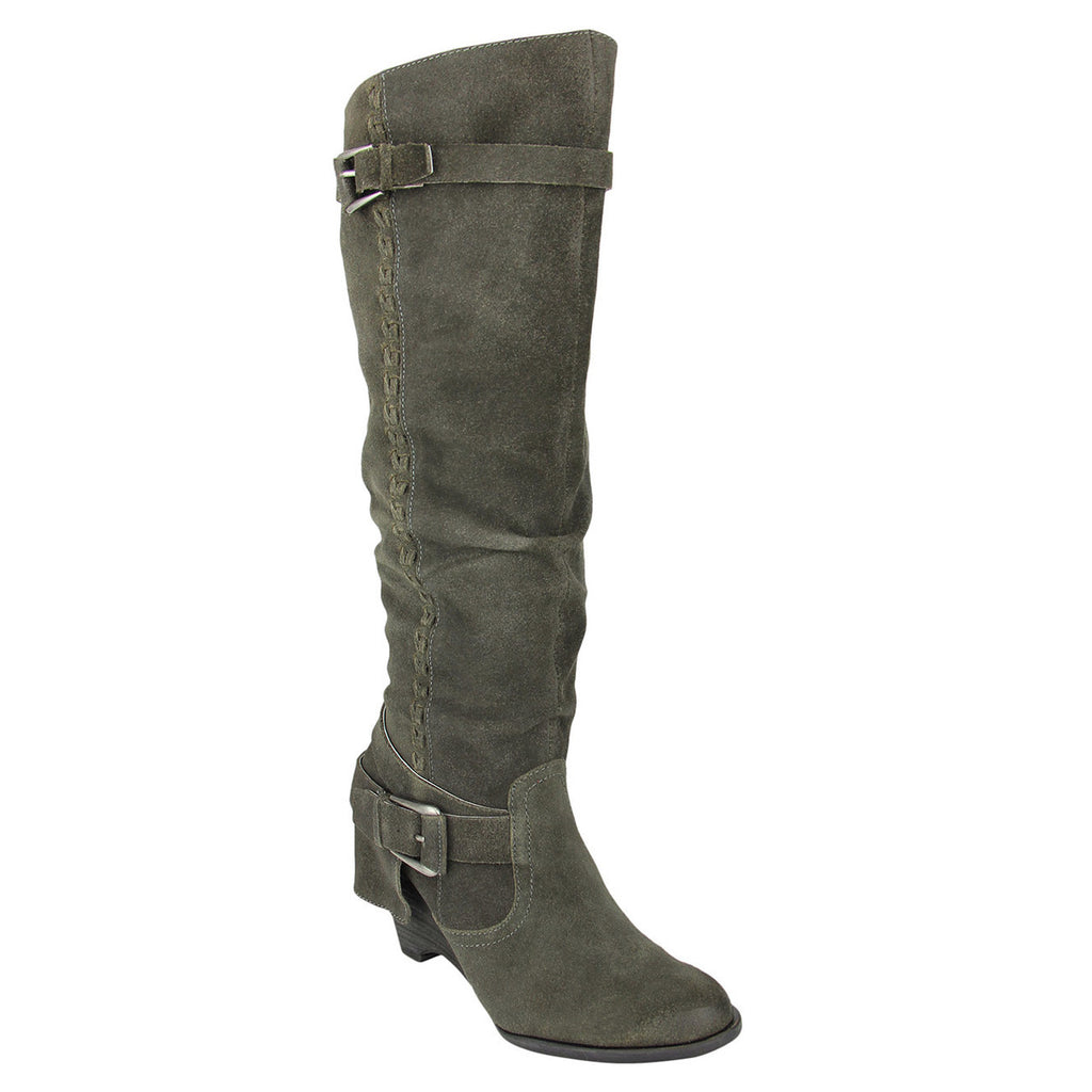 naughty_monkey_tall_boot_stack_heel_women_Double Up- Grey