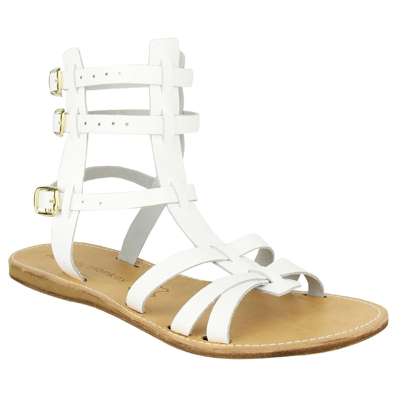 naughty_monkey_sandal_Argos - White_sale