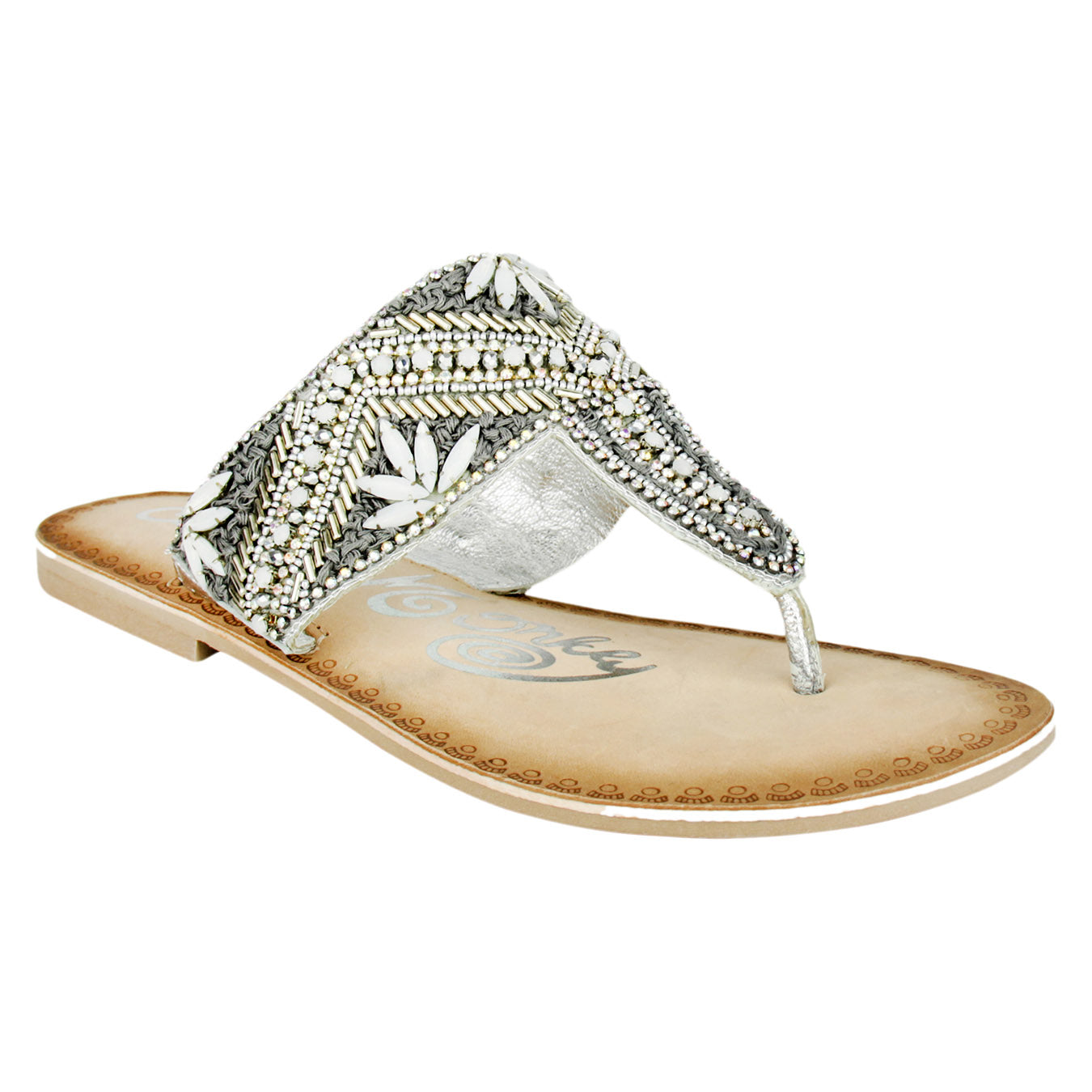 naughty_monkey_sandal_slip-on_embellished_women's_flat_amare_silver