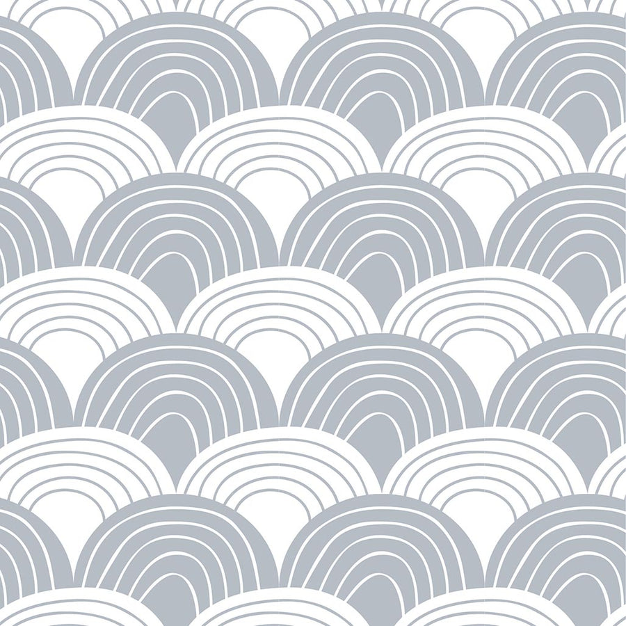 Organic crib sheets with waves grey