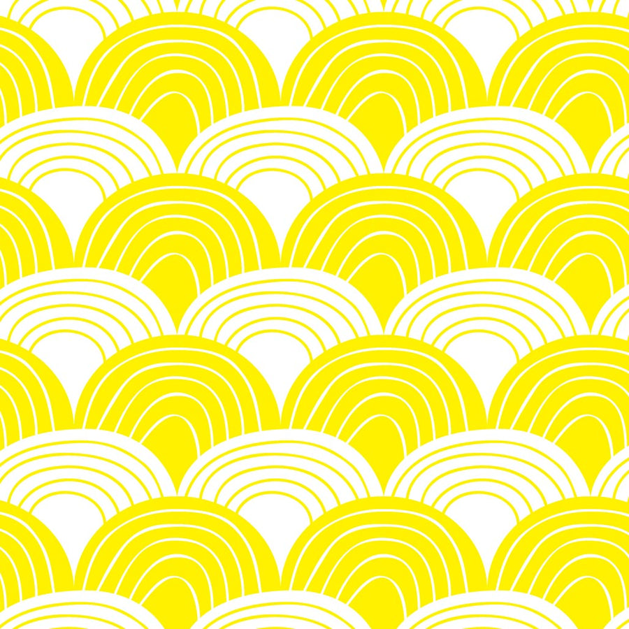 Organic crib sheets with waves yellow