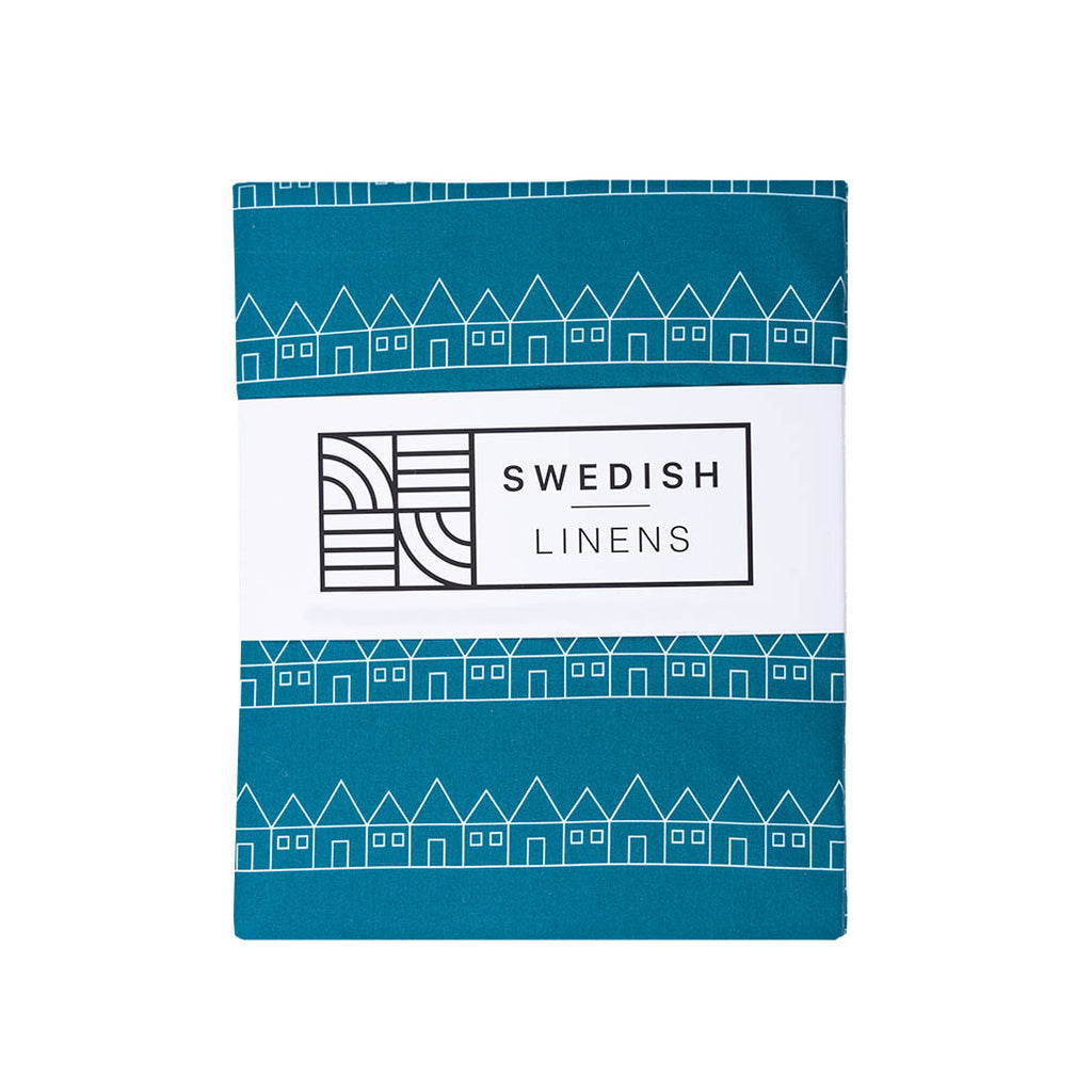 Baby sheets with swedish design packaging