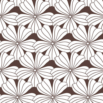 FLOWERS | Dark chocolate | Pillowcase | 40x80cm / 15.7x31.5