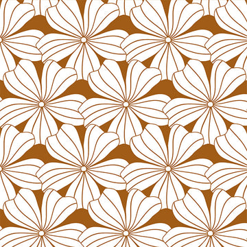 FLOWERS | Cinnamon brown | Pillowcase | 40x80cm / 15.7x31.5