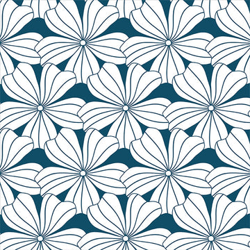 FLOWERS | Moroccan blue | 100x200cm / 39.3x78.7