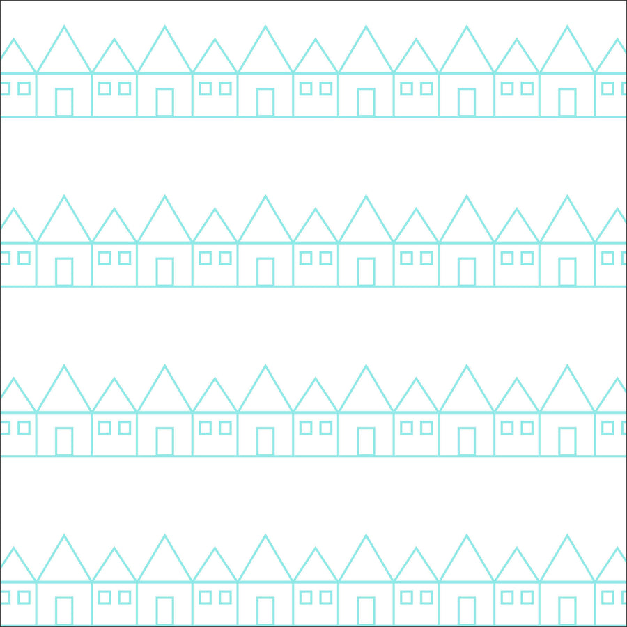 Kids bedding organic sheet in white and blue