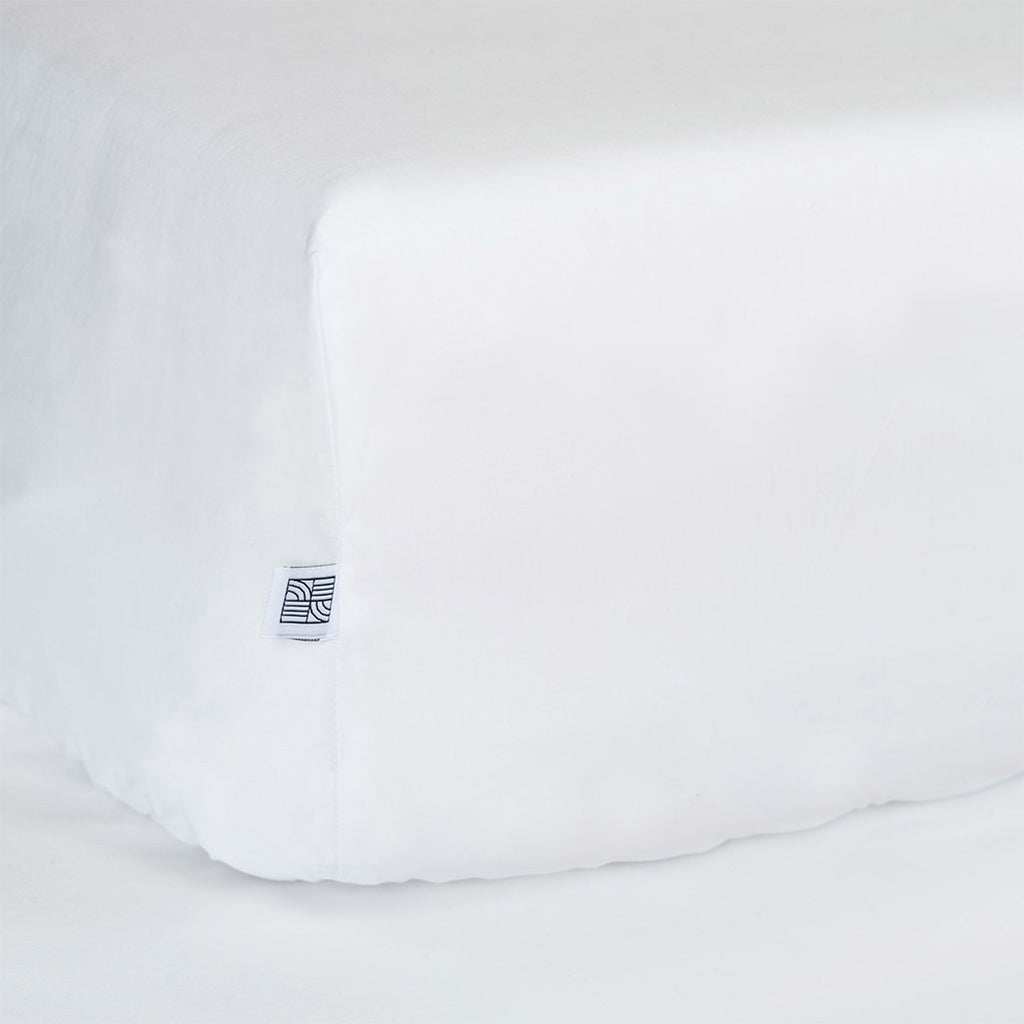 Baby bedding fitted crib sheets white organic