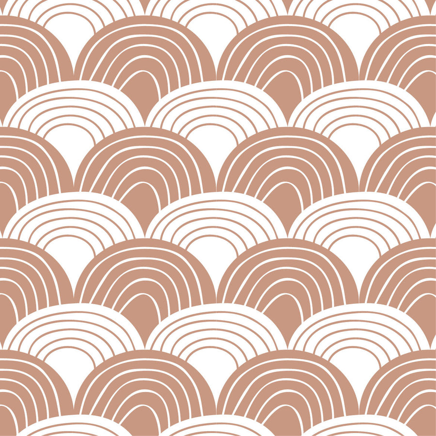 RAINBOWS | Terracotta pink | 90x200cm | Fitted single sheet