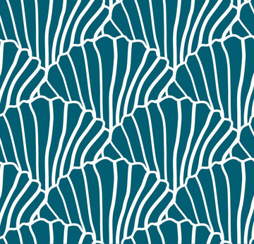SEASHELLS | Moroccan blue | 70x100cm | Multipurpose sheet