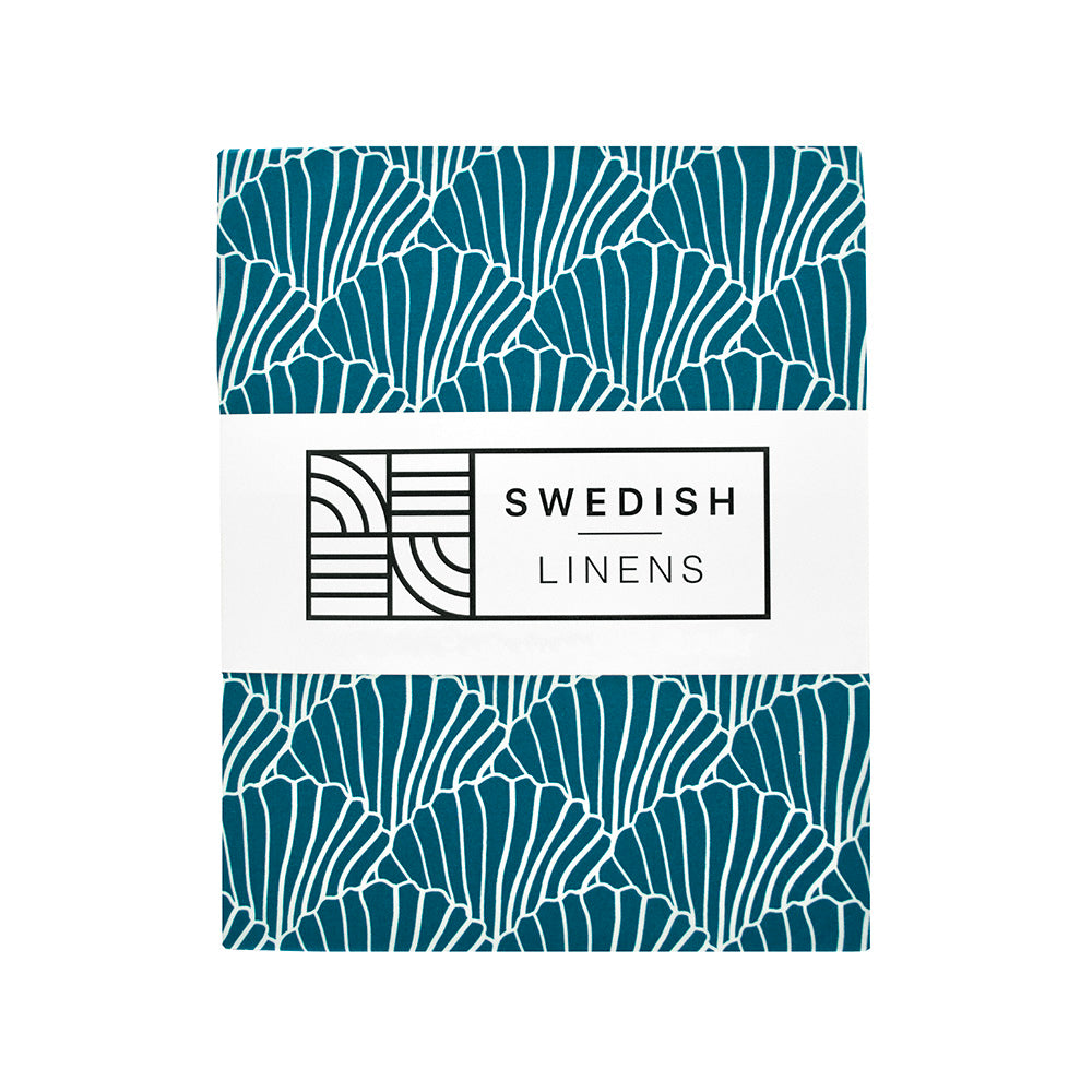 SEASHELLS | Fitted sheet | 60x120cm / 23.5x47"