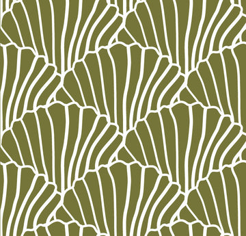 SEASHELLS | Olive green | Pillowcase | 50x75cm / 19.6x29.5
