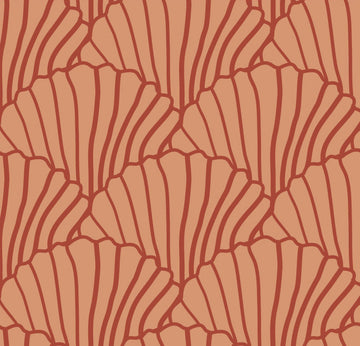 SEASHELLS | Terracotta+Burgundy | Pillowcase | 40x80cm / 15.7x31.5