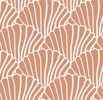 SEASHELLS | Terracotta pink | 90x200cm | Fitted single sheet