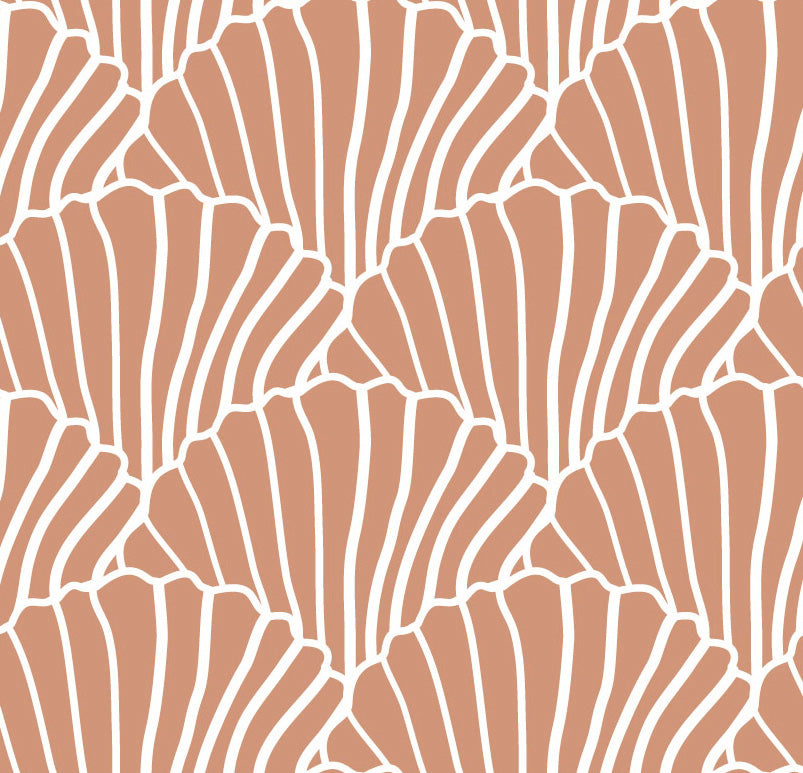 SEASHELLS | Double fitted sheet | 140x200cm / 55x79"