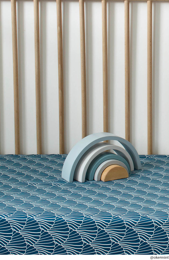 SEASHELLS | Fitted sheet | 70x160cm / 27.5x63"
