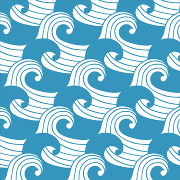 WAVES | Kyoto blue | Pillowcase | 40x80cm / 15.7x31.5