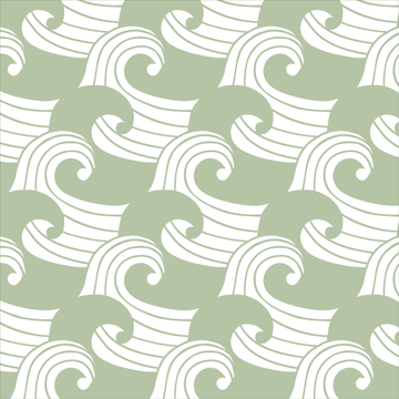 WAVES | Sage | Pillowcase | 50x75cm / 19.6x29.5