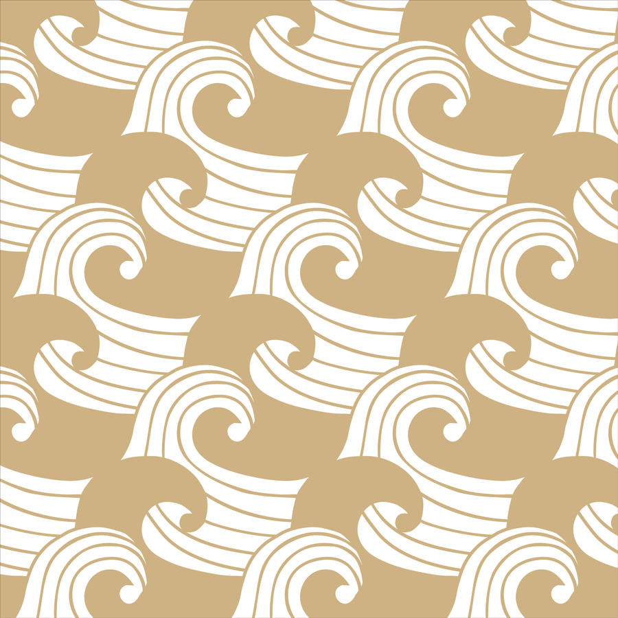 WAVES | Fitted sheet | 70x160cm / 27.5x63"