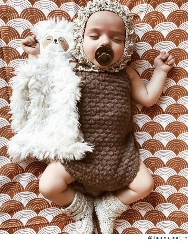 fitted crib sheet boho brown
