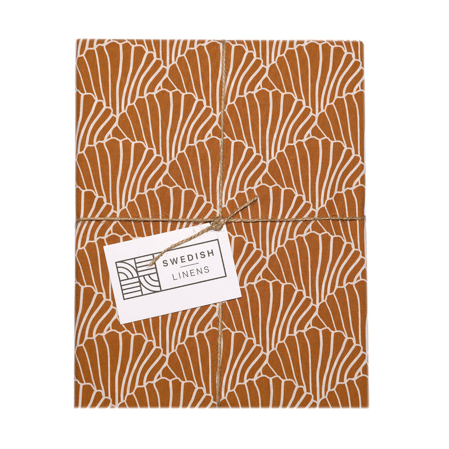 SEASHELLS | Cinnamon brown | Pillowcase | 50x75cm / 19.6x29.5