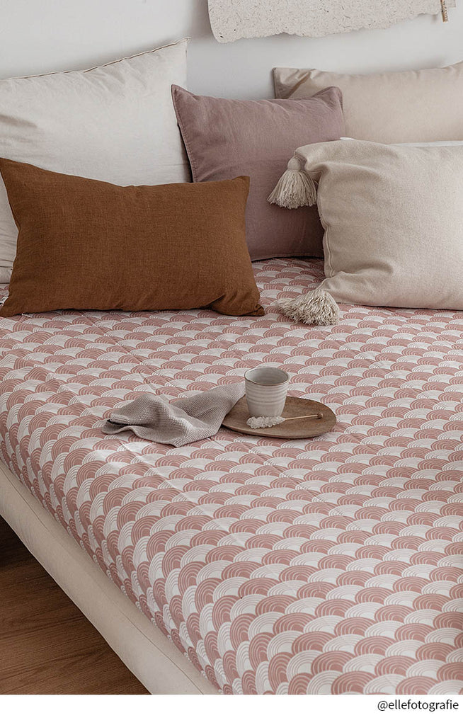 NEW! RAINBOWS | Double fitted sheet | 140x200cm / 55x79"