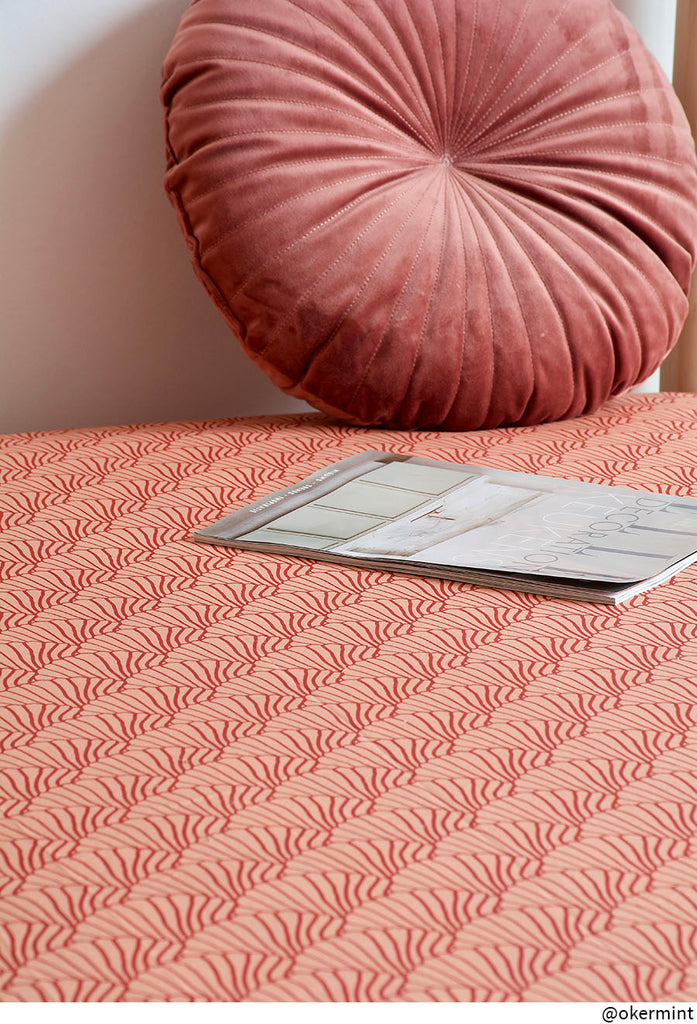 SEASHELLS | Double fitted sheet | 180x200cm / 71x79"