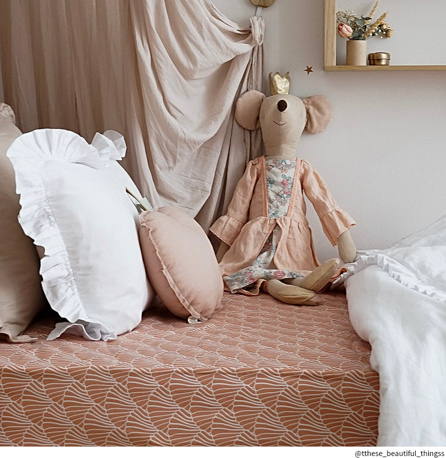 SEASHELLS | Fitted sheet | 90x200cm / 35.5x78.7"