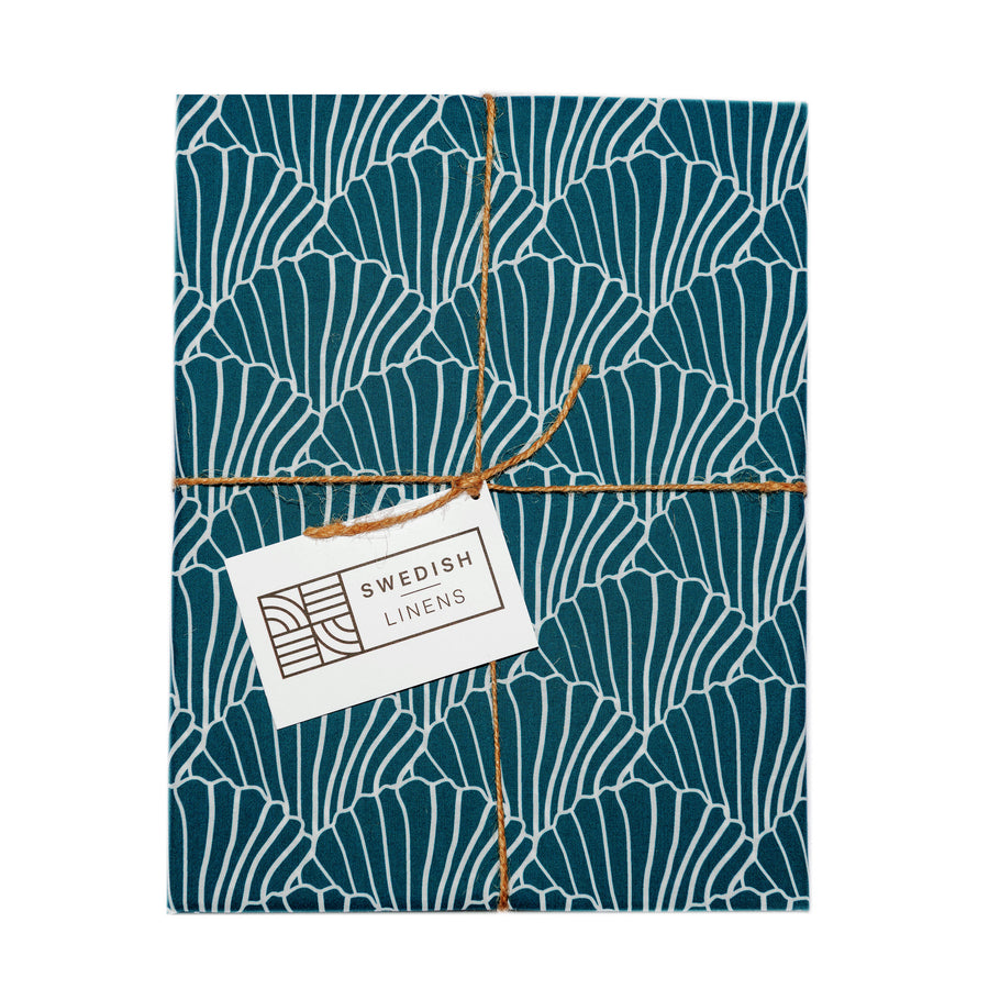 SEASHELLS | Moroccan blue | Pillowcase | 50x75cm / 19.6x29.5