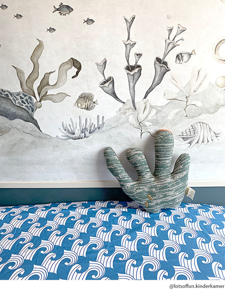 WAVES | Fitted sheet | 60x120cm / 23.5x47"