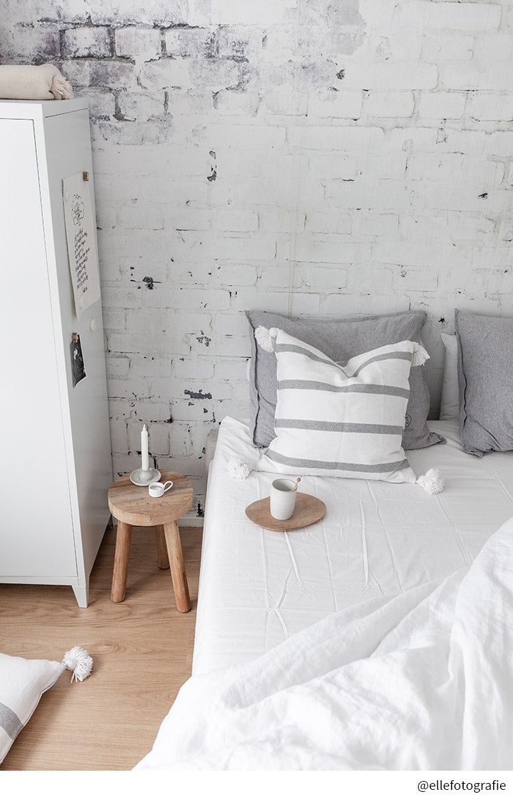 NEW! STOCKHOLM | Double bed sheet | 3 sizes | Crispy white
