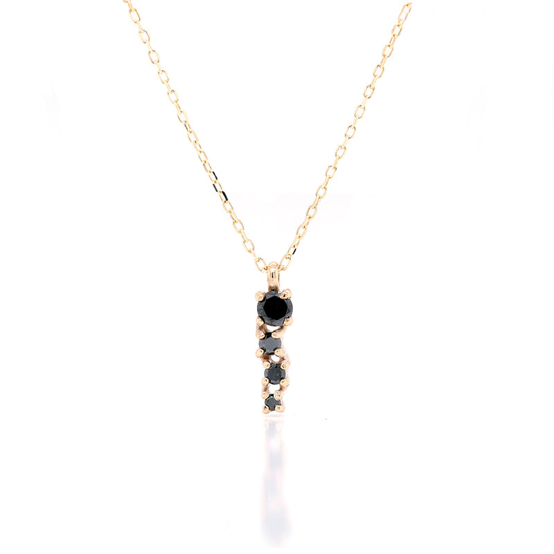 Alana Comet necklace II | black diamond