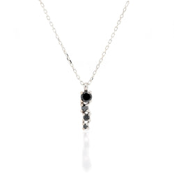 Alana Comet necklace | black diamond