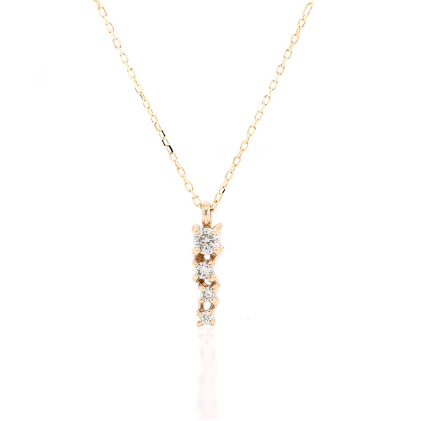 Alana Comet necklace II | white diamond