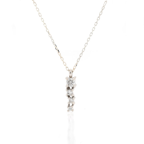 Alana Comet necklace | white diamond