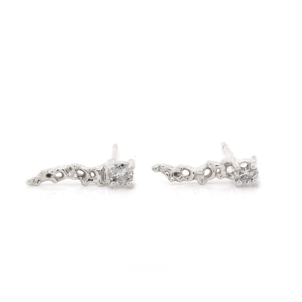 Clara comet studs | grey diamond