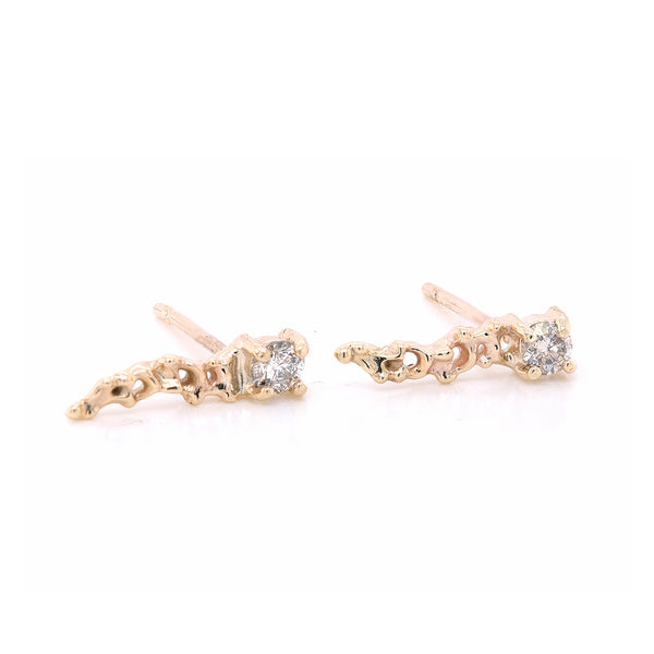 Clara comet studs II | grey diamond