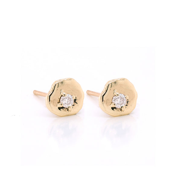 Davina studs II | white diamond