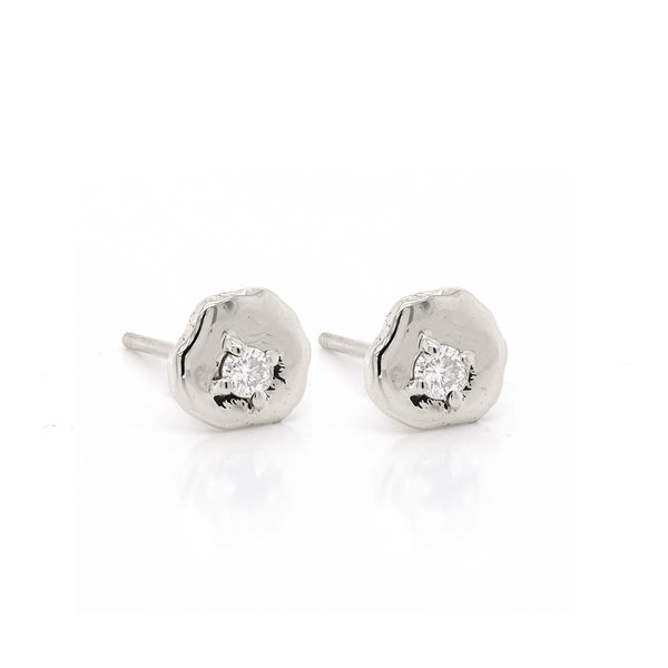 Davina studs | white diamond