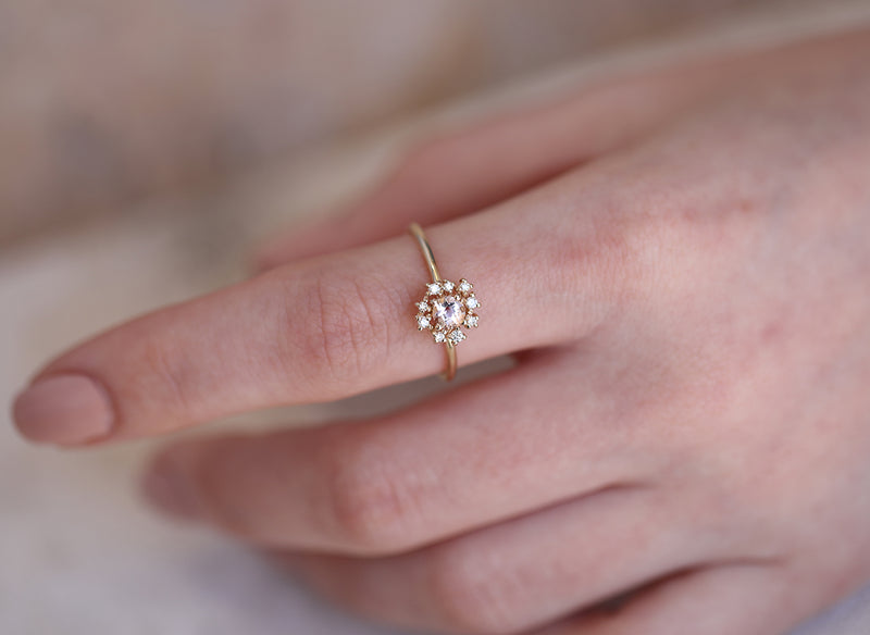 Florence II | morganite & diamonds