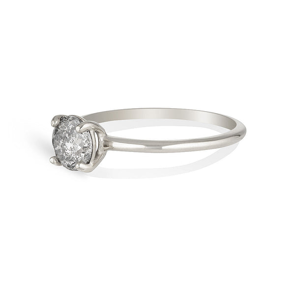 Anne Solitaire | Salt & Pepper diamond - **Only 1 left!**