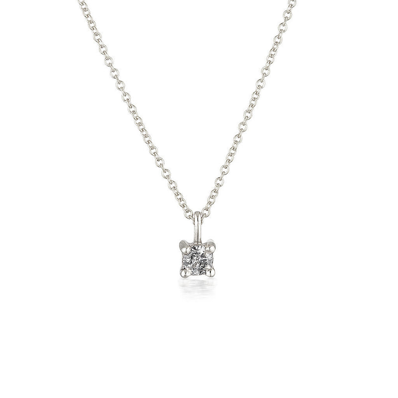 Imogen necklace - Salt & Pepper diamond