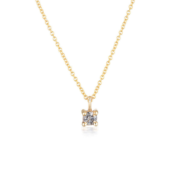 Imogen necklace II - Salt & Pepper diamond