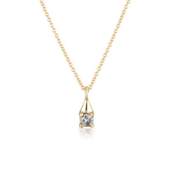 Charlotte necklace II - Salt & Pepper diamond